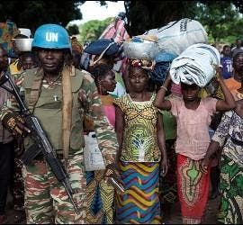 Comienza la evacuación de los habitantes de Bangassou