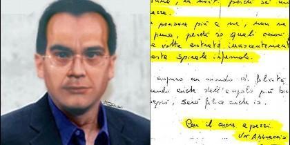 Matteo Messina Denaro y su carta de amor.