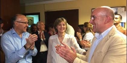 Carnero acompañado de la Ministra Tejerina y de su antecesor en su nuevo cargo, Ruíz Medrano
