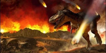La extinción de los dinosaurios.