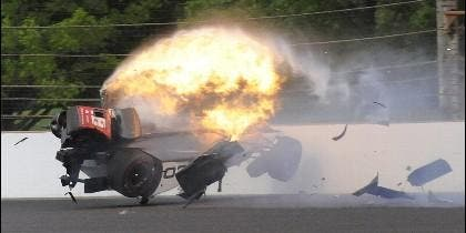 Accidente de Sebastien Bourdais