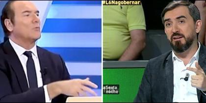 Antonio Jiménez e Ignacio Escolar en televisión.