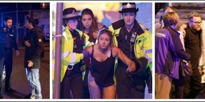 Imágenes del atentado de Manchester en el concierto de Ariana Grande.