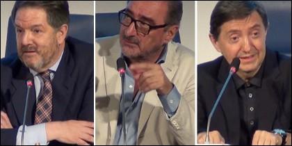 Bieito Rubido, Carlos Herrera y Jiménez Losantos.