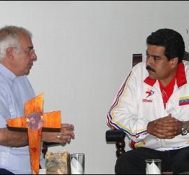 El presidente Maduro y monseñor Moronta