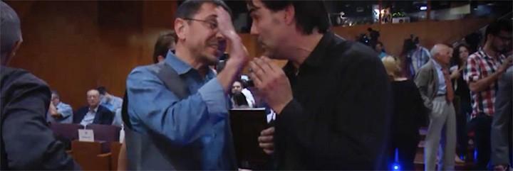 Juan Carlos Monedero y Cake Minuesa.