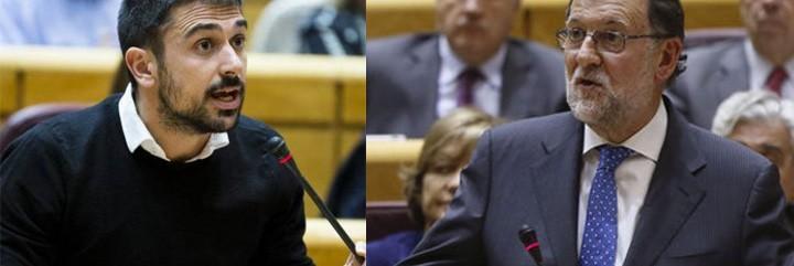 Ramón Espinar y Mariano Rajoy.