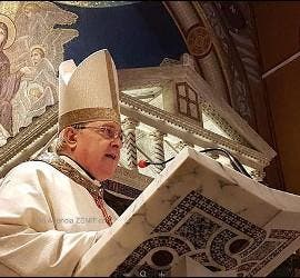 Cardenal Sandri, en la misa para el 25 de mayo en Roma