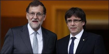 Mariajo Rajoy (PP) con Carles Puigdemont (PDeCAT).