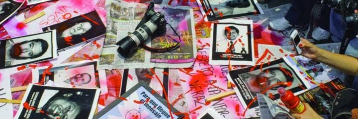 Protesta por asesinatos de periodistas en México