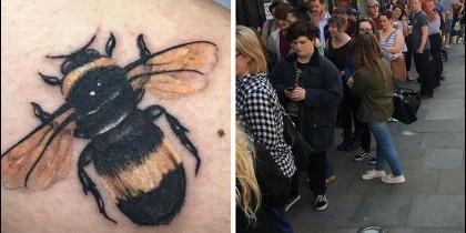 Tatuajes de abejas en Manchester
