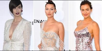 Paz Vega, Bella Hadid e Irina Shayk en Cannes.