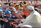El Papa, con los obreros en Génova