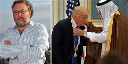John Carlin y Donald Trump galardonado en Arabia Saudí.