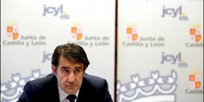 El consejero de Fomento y Medio Ambiente, Juan Carlos Suárez-Quiñones