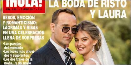 Risto Mejide y Laura Escanes en la portada de '¡Hola!'.
