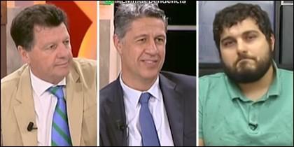Alfonso Rojo, Xavier García Albiol y Oriol Puig.