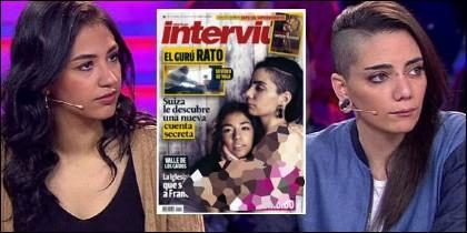 Jimena Rico y Shaza Ismail, en 'All you need is love... O no' y en la protada de 'Interviú'.