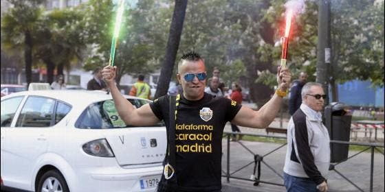 Uno de los taxistas de la asociación Élite Taxi Madrid.