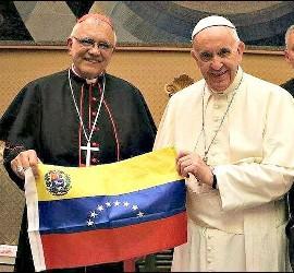 El Papa Francisco, con el cardenal Porras