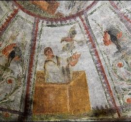Frescos en la Catacumba de Domitila