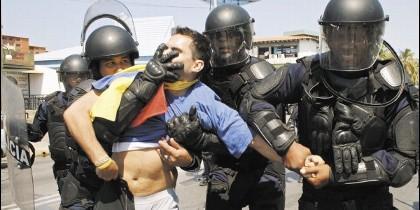 Represión contra los opositores en Venezuela