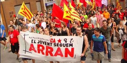 Arran, las 'fuerzas de choque' del independentismo catalán.