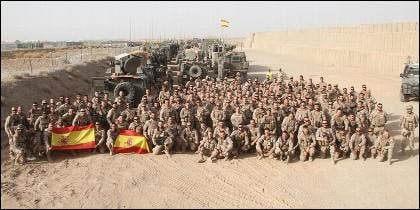 Militares españoles en Afganistán.
