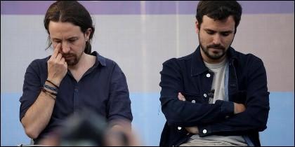 Pablo Iglesias y Alberto Garzón (UNIDOS PODEMOS).