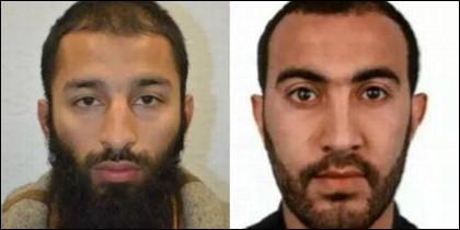 Khuram Butt y Rachid Redouane, dos de los terroristas islámicos del Puente de Londres.