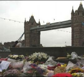 Flores junto al puente de Londres