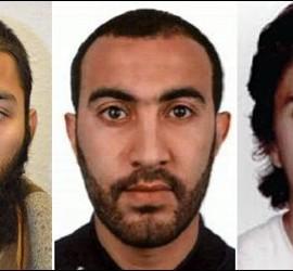 Los terroristas islámicos de Londres: Khuram Shazad Butt, Rachid Redouane y Youssef Zaghba.