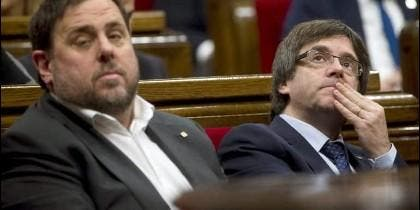 Oriol Junqueras (ERC) y Carles Puigdemont (PDCAT).