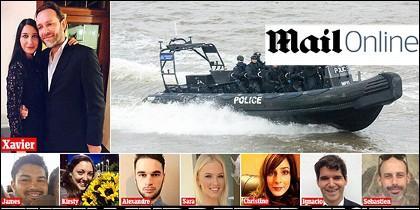 Captura de Daily Mail con los ocho fallecidos.