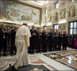 El Papa, con miembros de la Academia para la Vida