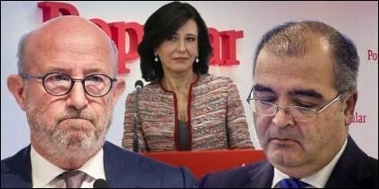 Emilio Saracho, Ángel Ron y Ana Botín.