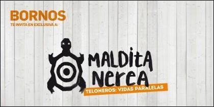 Cartel anunciador del concierto de Maldita Nerea