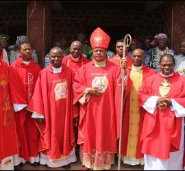 Okpaleke y otros obispos en Ahiara