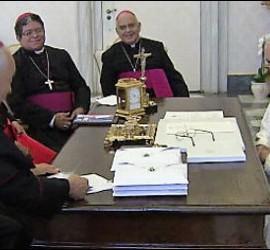 Francisco, con los obispos de Venezuela