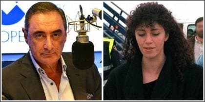 Carlos Herrera e Idoia López Riaño.