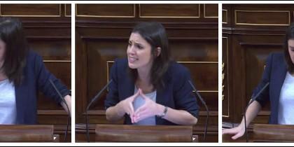 Irene Montero en el Congreso. 13 junio 2017
