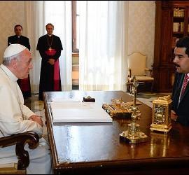 El Papa Francisco con Nicolás Maduro