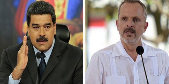 Nicolás Maduro y Miguel Bosé.