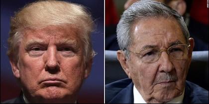 Donald Trump (EEUU) y Raúl Castro (CUBA).