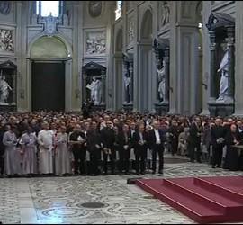 El Papa, en la basílica de Letrán