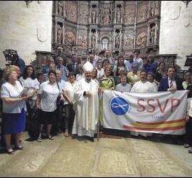Monseñor Cerro, con la SSVP en Cáceres