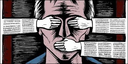 Censura, veto y persecuación a periodistas.