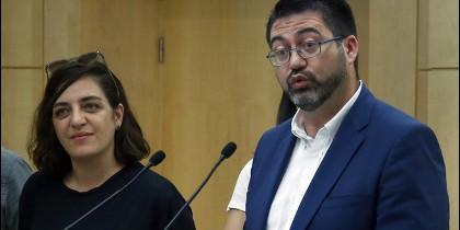 Carlos Sánchez Mato y Celia Mayer
