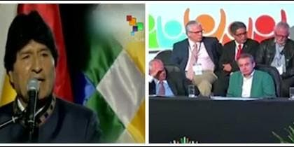 Evo Morales y Zapatero.