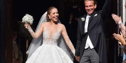 Victoria Swarovski luce un vestido de novia de 800.000€